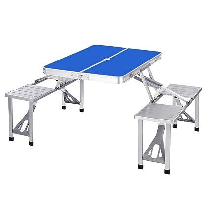 Mesa de camping Mesa plegable de aluminio de caballete ...