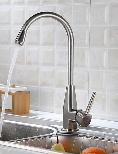 Wzl Delta Kitchen Faucet Contemporary Stainless Steel Brushed Chrome Amazon Com