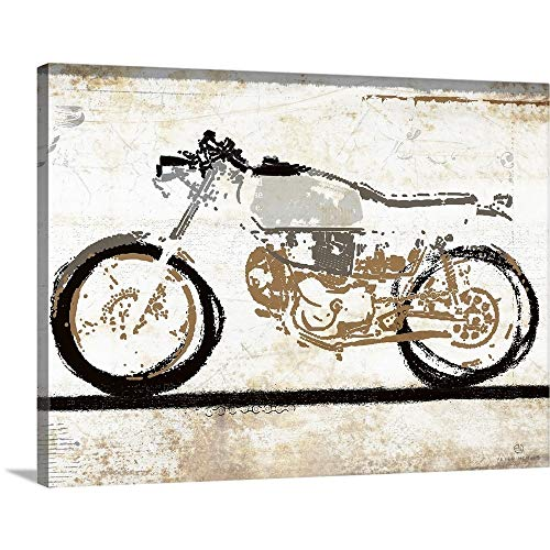 Peter Horjus Solid-Faced Canvas Print Wall Art Print Entitled Vintage Motorcycle 1 24