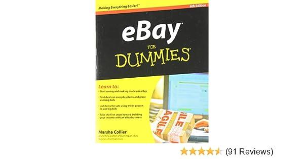 Ebay for dummies marsha collier 9780470497418 amazon books fandeluxe Gallery