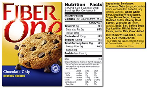 fiber one chocolate chip cookie - 6