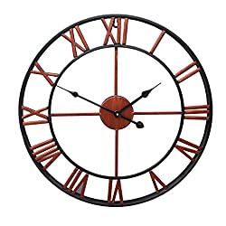 Handmade Oversized 3D retro rustic decorative luxury art vintage large wall clock on the wall for gift Wall clock/B