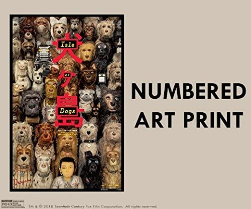Isle Of Dogs 13 X19 Original Promo Movie Poster Regal Le D Wes Anderson At Amazon S Entertainment Collectibles Store