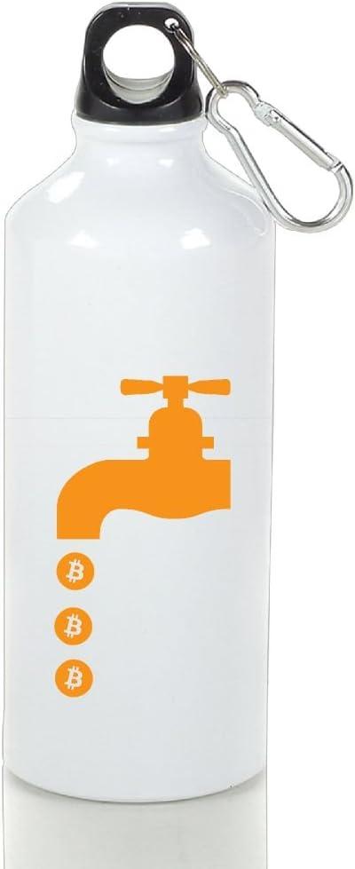 Blanco ligero aluminio botella de agua deportiva Bitcoin taza ...
