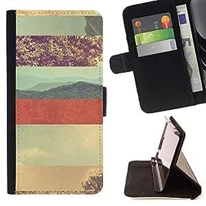 For HTC One A9 Case , Patrón desierto Líneas Sky Red Planet- la tarjeta de Crédito Slots PU Funda de cuero Monedero caso cubierta de piel