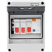 Yililay Konsumentenhet Circuit Breaker Panel 2-vägs mini läckageskydd säkringskort 40A 30mA RCD 2 MCB 6A 16A (vit)