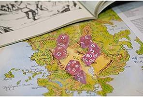shibby 7 Dados poliédricos en Transparente Rosas para Juegos de rol y Mesa, Incluye Bolsa: Amazon.es: Juguetes y juegos