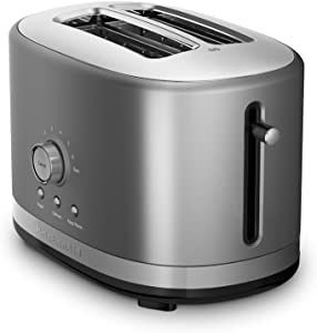KitchenAid 2-Slice Long Slot Toaster | Contour Silver (Renewed)