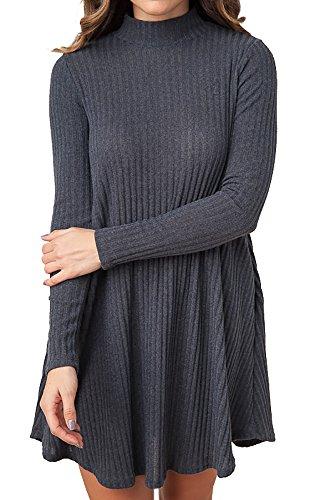 Ybenlow Womens Sweaters Dress Oversized Long Sleeve Lightweight Loose Knit Tunic Tops