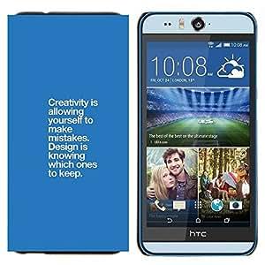 EJOOY---Cubierta de la caja de protección para la piel dura ** HTC Desire Eye M910x ** --azules errores creatividad punto de diseño