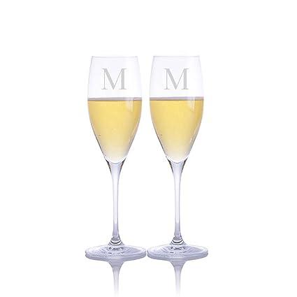 410a8f709ce Personalized Riedel Vinum Cuvee Prestige Champagne/Prosecco Glass 2pc. Set  - Engraved & Monogrammed