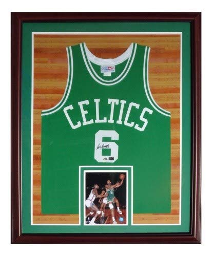 Bill Russell Autographed Signed Auto Boston Celtics Green  6 Deluxe Framed  Jersey - Certified Authentic 7a224777f