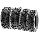 SunF Sport Race Replacement ALL TERRAIN ATV UTV 6 Ply Tires 25x8-12 & 25x10-12 Tubeless A021, [Set of 4]