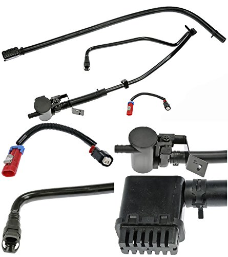 Fuel Vapor Hose - APDTY 022340 Fuel Tank Vapor Emission Charcoal Canister Vent Solenoid Filter Relocation Kit (Prevents Filter Clogging & Allows Fuel To Flow Through The Filler Neck & Into The Fuel Tank At Fill Up)