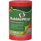Duck Brand Bubble Wrap Color Cushioning, 12 Inches Wide x 30 Feet Long, Single Roll, Red (280722)