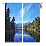 Golee Window Curtain Mirror Lake on Matheson Walkway at Famous Land Mark Home Decor Rod Pocket Drapes 2 Panels Curtain 104 x 63 inches