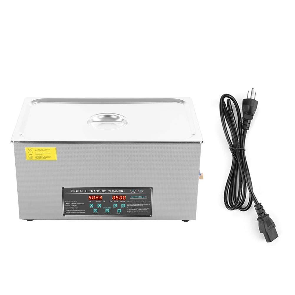 Akozon Ultrasonic Cleaner 22L 480W Industry Stainless Steel Ultrasonic Cleaner for Jewelry Watch Eyeglasses JPS-80AD(US Plug) by Akozon