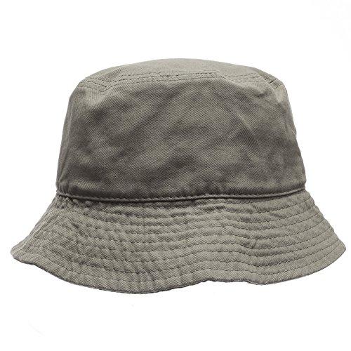 - MIRMARU Summer 100% Cotton Packable Travel Outdoor Activities Fishing Bucket Hat.(Olive,LXL)