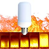 Zeben LED Flame Light Bulbs Fire Flashes Emulation Vintage Atmosphere Decorative Lamps 5W E26 / E27 Bulbs Simulated Nature Gas Fire in Antique Hurricane Lantern for Home Hotel Bar Etc.