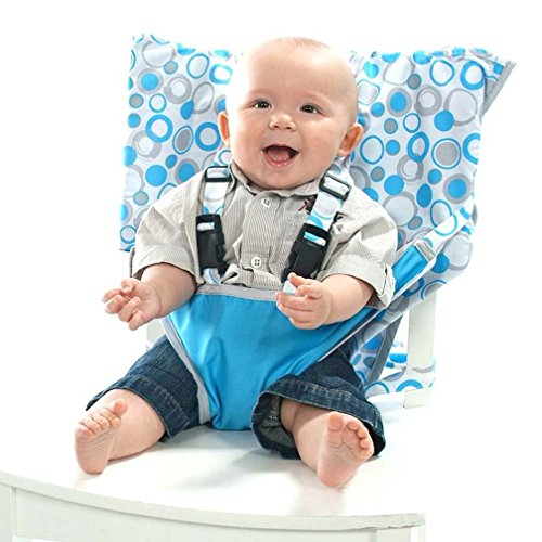 Folding Booster Chair (My Little Seat Infant Travel High Chair, Hula Loops, 6 Months)