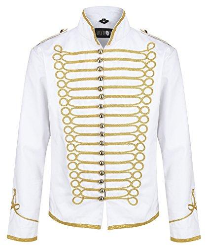 Rox Militaire Hommes Blanc Veste Parade Pour Défilé Batteur De Ro OwAdSqA