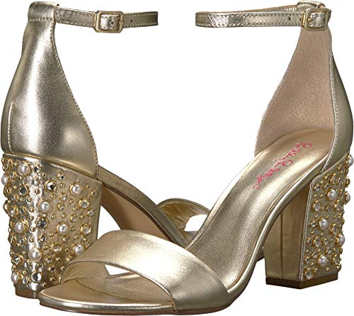 Lilly Pulitzer Women's Embellished Amber Lynn Sandal Gold Metallic 6 M US (The Best Of Amber Lynn)