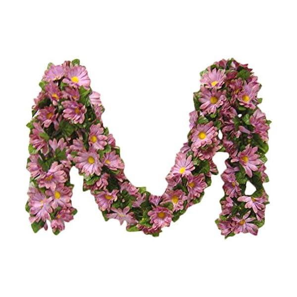 Kampoojoo – Mauve Daisy Garland Silk Flowers Wedding Arch Chuppah Centerpieces