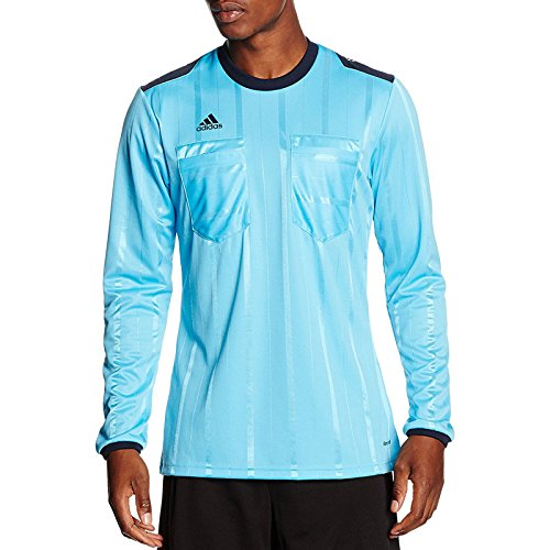 adidas Performance Mens Long Sleeve Football Referee Jersey Shirt - Blue - S -