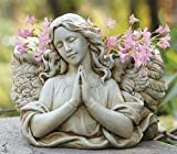 Pack of 2 Joseph's Studio Praying Angel Religious Outdoor Garden Planter Statues 8.5''