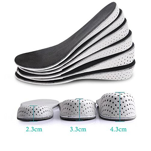 - Height Increase Shoes Insole-Breathable Memory Foam Height Increase Insole Invisible Increased Heel Lifting Inserts Shoe Lifts Shoe Pads Elevator Insoles for Women (4.3CM)