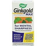 Nature's Way Ginkgold Max 120mg, 60 Tablets