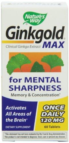Nature's Way Ginkgold Max 120mg, 60 Tablets, Health Care Stuffs