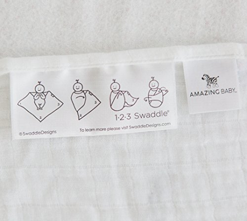 Large Product Image of Amazing Baby Silky Swaddle Muslin Blankets, Set of 2, Viscose from Bamboo, Drops and Dots, Sterling