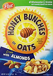 Post, Honey Bunches Of Oats With Almonds, 14.5 oz