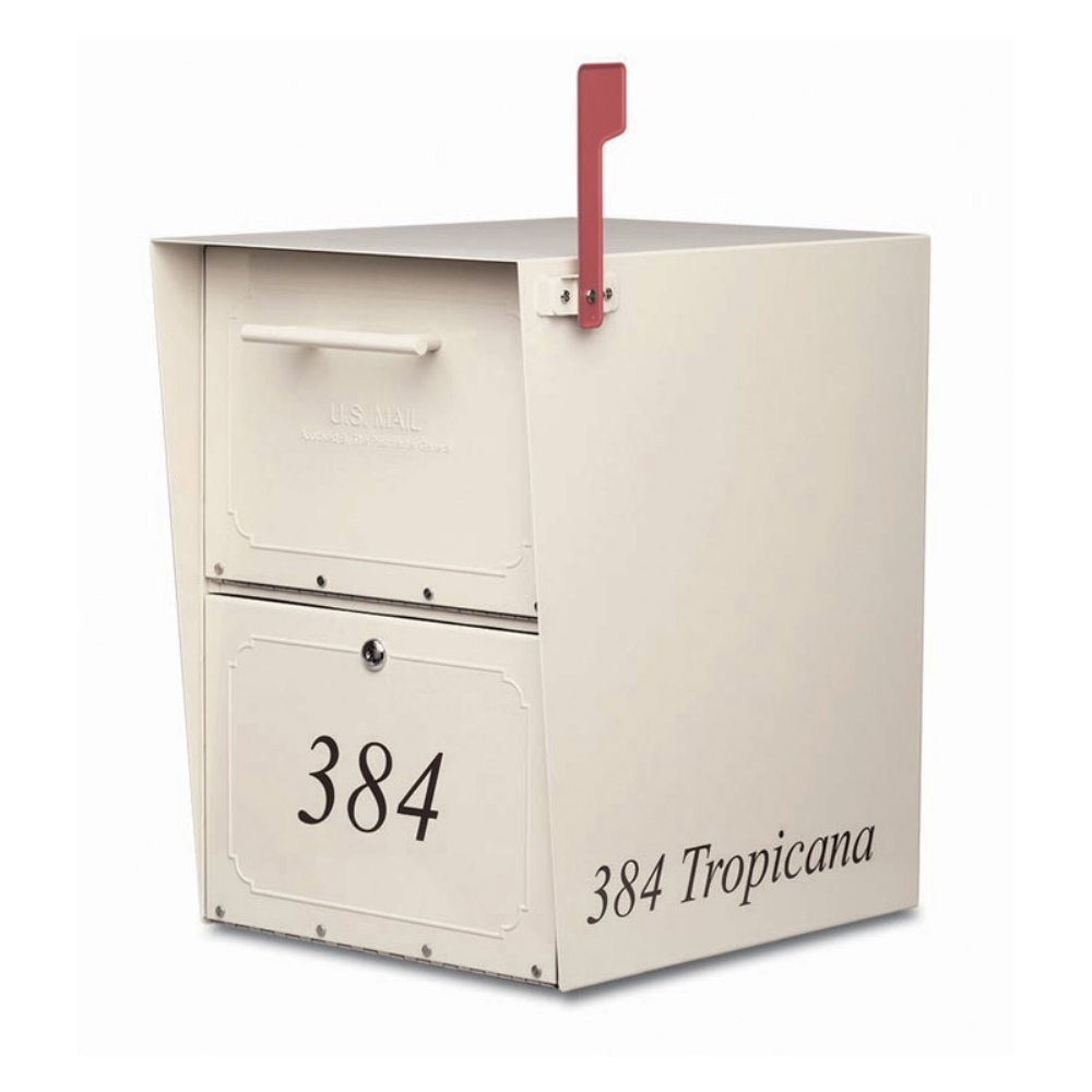 Oasis Wall Mounted Mail Vault with Lock Mailbox Color: Sand, Features: Add flag, mail clip and ''US Mail'' door