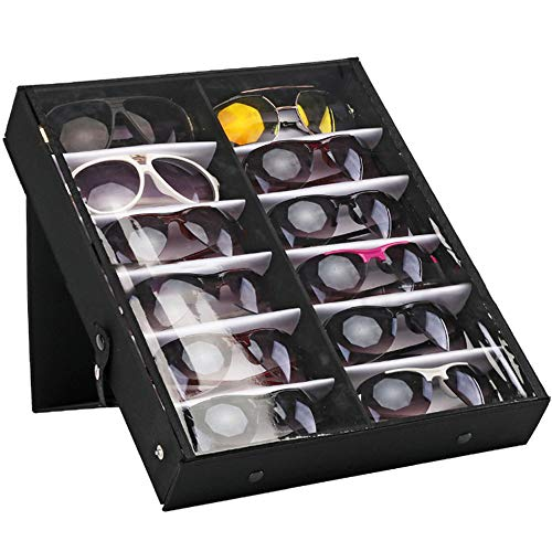 589d11d7737b Outdoorfly 12 Slot Eyewear Case Sunglasses Organizer Display Storage Tray  for Eyeglasses