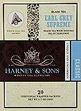 Harney & Sons Black Tea, Earl Grey Supreme, 20 Sachets (Pack of 6)