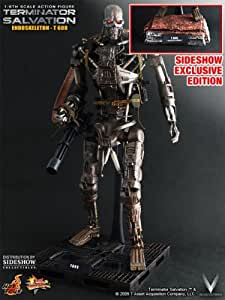 Hot Toys Sideshow Exclusive Terminator Salvation T-600 1:6 Scale 12 inch Figure