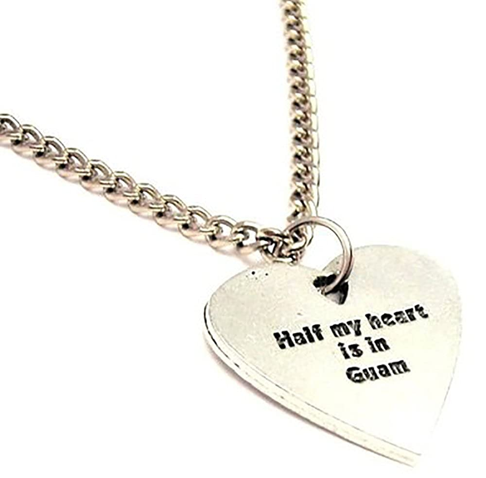 ChubbyChicoCharms Half My Heart Is In Guam Single Charm 18 Necklace
