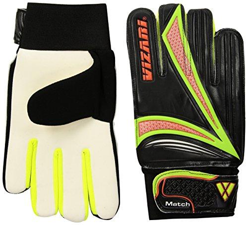 Vizari Junior Match Glove, Black/Orange/Green, Size 7 (Kids Soccer Gk Gloves)