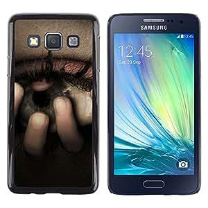 TECHCASE**Cubierta de la caja de protección la piel dura para el ** Samsung Galaxy A3 SM-A300 ** Eye Uneasy Depression Sadness Crying