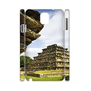 3D Okaycosama Funny Samsung Galaxy Note 3 Case Architecture 73 Cheap for Boys, Samsung Galaxy Note3 Case, [White]