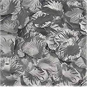 NiceWave 1000pcs Silver Silk Rose Petals Bouquet Artificial Flower Wedding Party Aisle Decor Tabl Scatters Confett 65