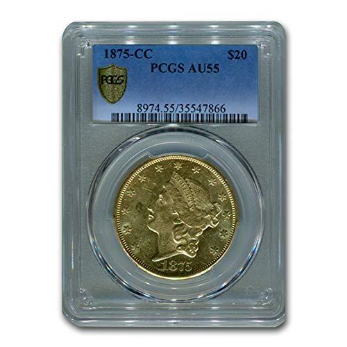 1875 CC $20 Liberty Gold Double Eagle AU-55 PCGS G$20 AU-55 PCGS