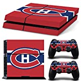 Ps4 Playstation 4 Console Skin Decal Sticker Montreal Canadiens + 2 Controller Skins Set