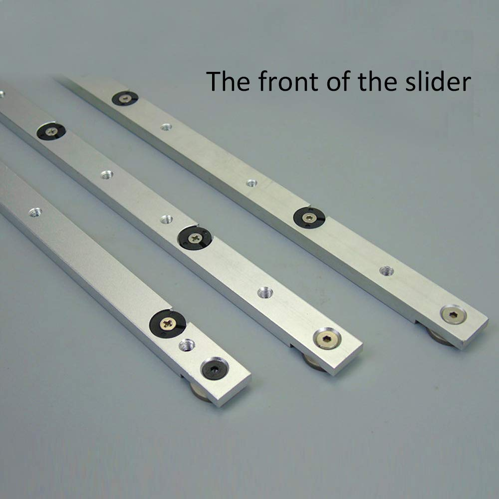 LYY 300//450//650mm Rails de Guidage du Travail du Bois ,300mm 30//45 Type Aluminium Push Handle DIY Accessoires pour scie /à onglets Tige de jauge