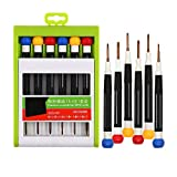 Kingsdun Small Philips Flathead Screwdriver Set, 6pcs Magnetic Precision Tool Kit include PH00