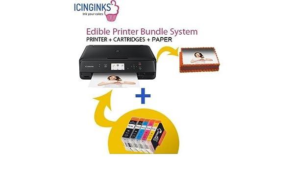 Icinginks Paquete de Impresora de Pasteles, 50 Hojas, Cartuchos de ...