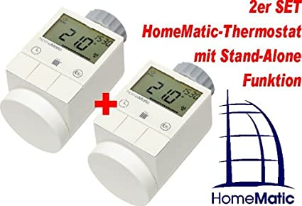 HomeMatic - Juego de dos termostatos de radiador inalámbricos