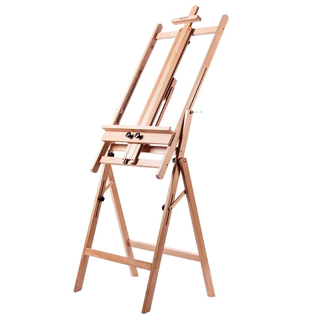 イーゼル持ち上がる床の油絵フレームの純木の木製のスケッチのイーゼル多機能の陳列台   B07MYWYFDB